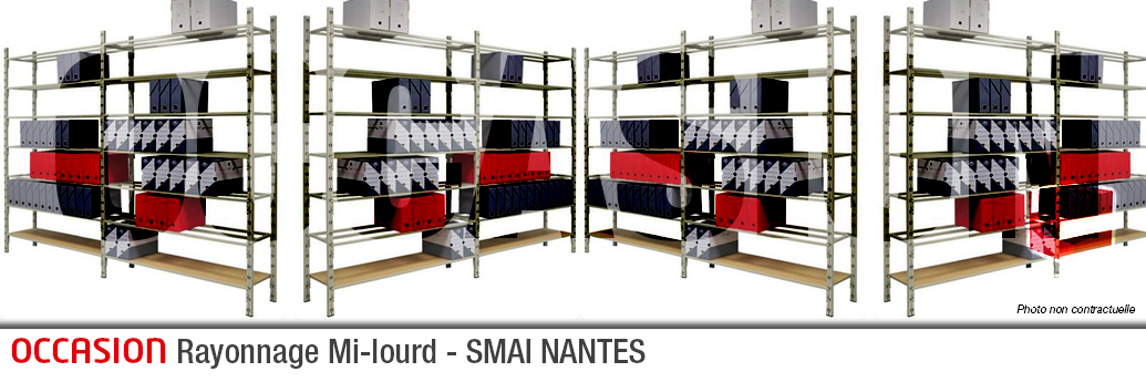 OCCASION - Rayonnage Mi-lourd Occasion - SMAI NANTES- 082016