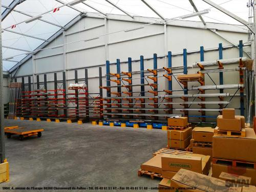 Rayonnage Cantilever Occasion 2 modèles stockage tubes